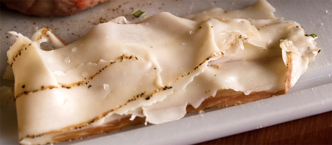 Lardo di Colonnata, a special food of Tuscany
