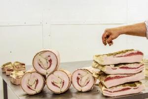 Pink Lardo Tuscan cured meats