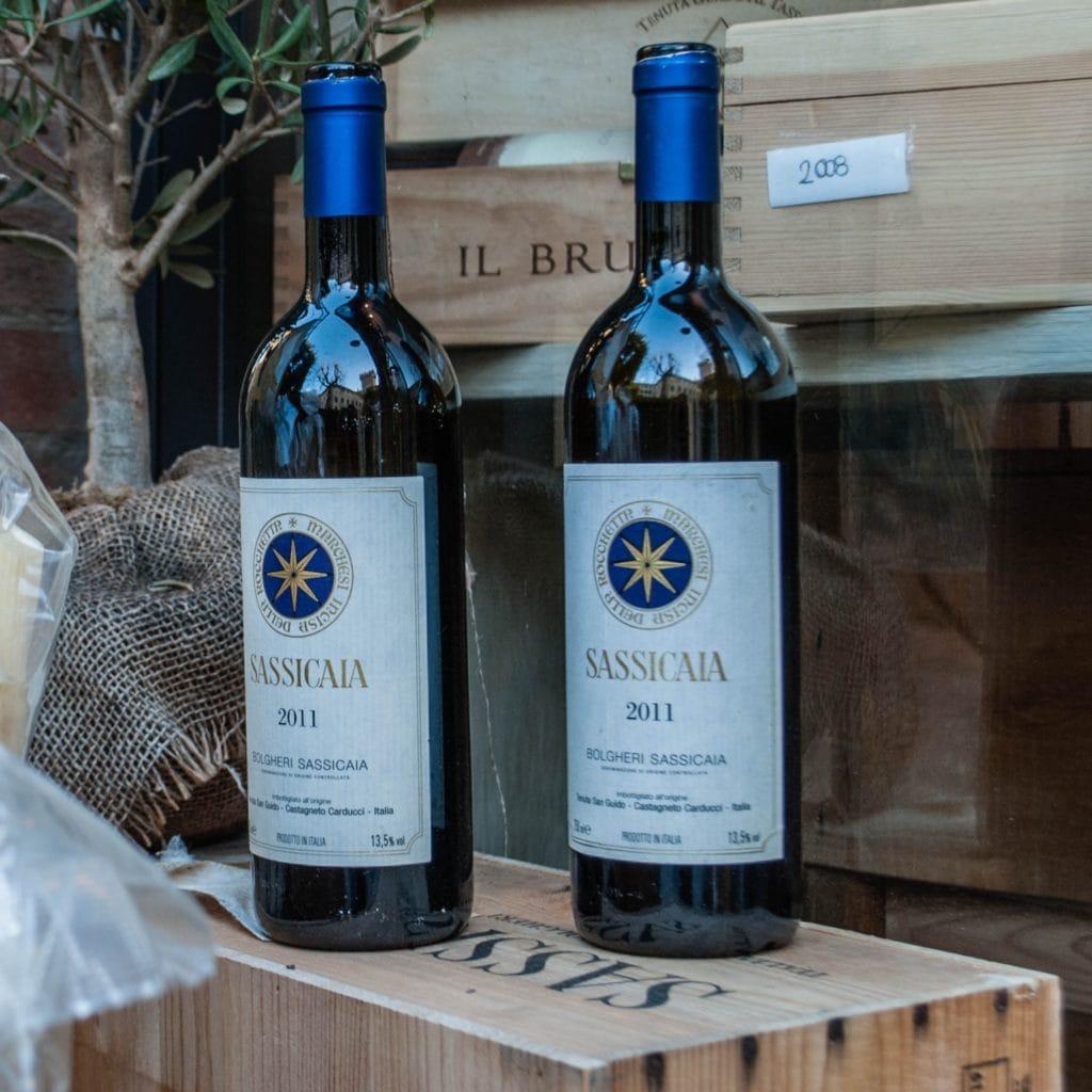 Sassicaia wines Tuscany