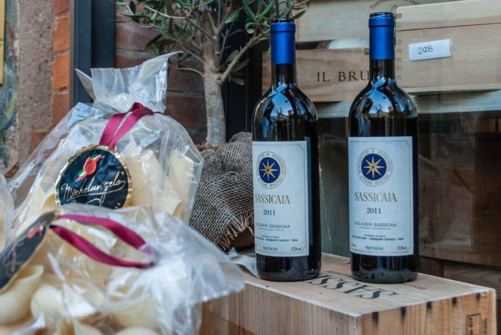 Sassicaia wine Tuscany