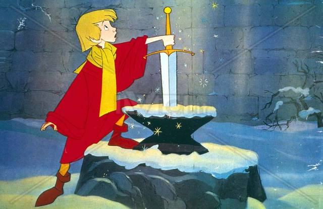 sword in the stone cartoon