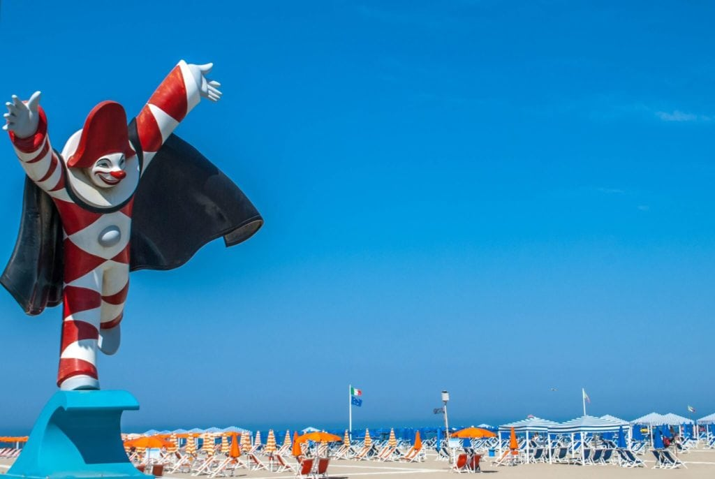 Burlamacco at the beach Viareggio Versilia tuscany