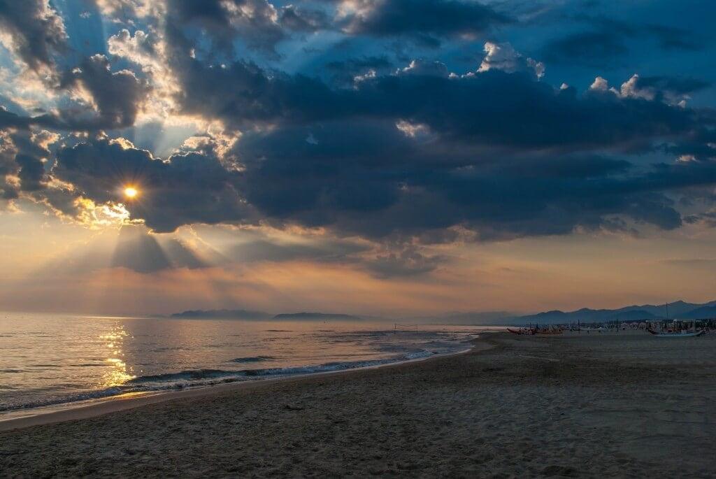 Sunset Marina di Pietrasanta Versilia tuscany