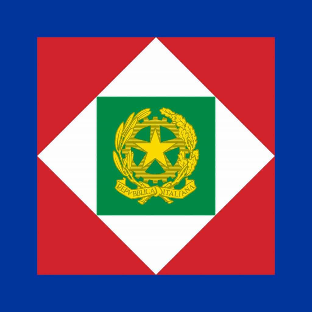 The standard of the president of the italian republic