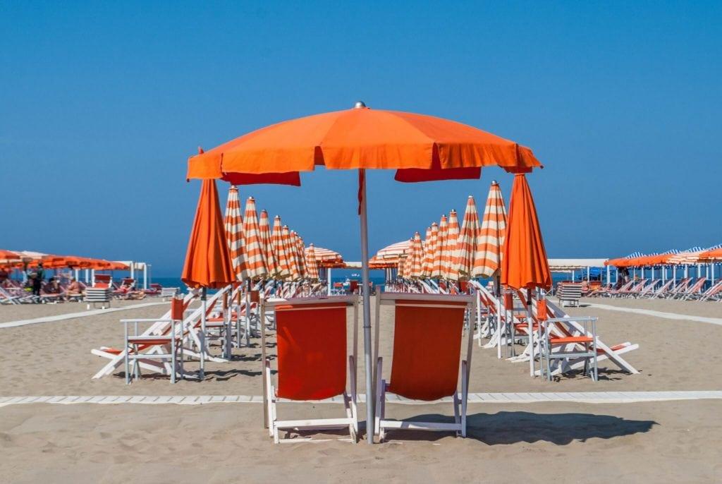 beach Viareggio Versilia tuscany