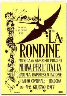 La Rondine Puccini Opera poster