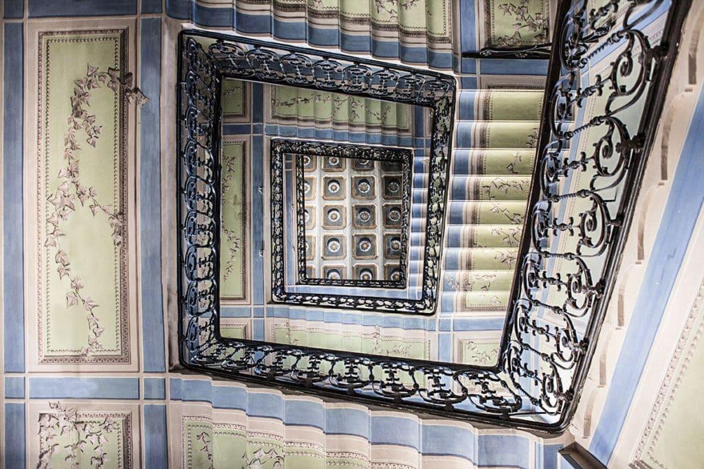Palazzo Cucchiari of Carrara staircase