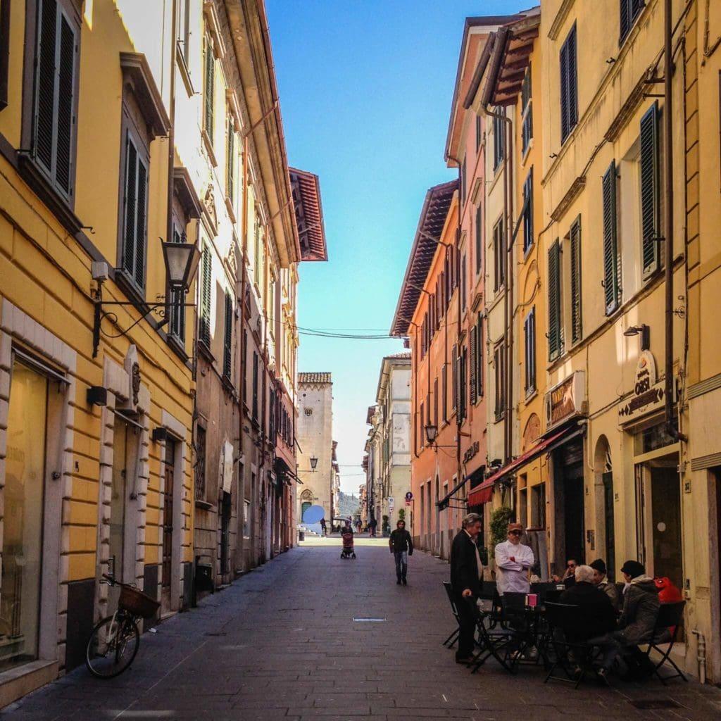 Street of Pietrasanta Tuscany
