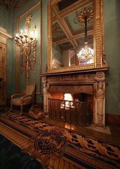 fireplace monumental gallery palazzo borghese florence