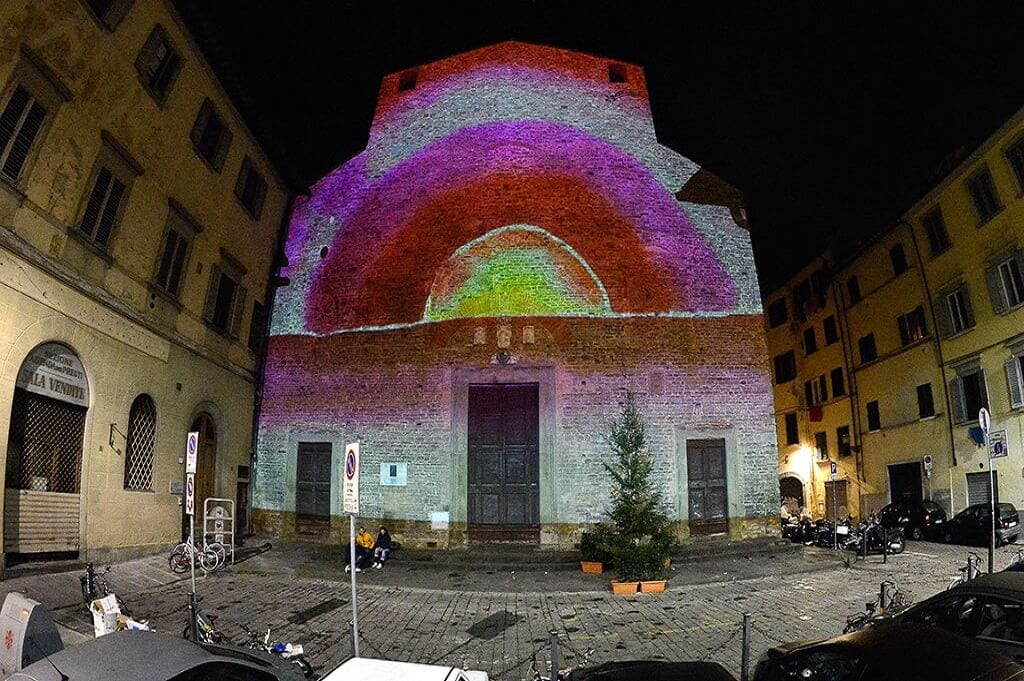 San Paolino church light festival florence