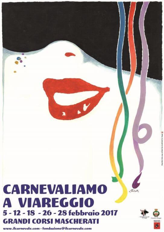 Carnival of Viareggio 2017 poster
