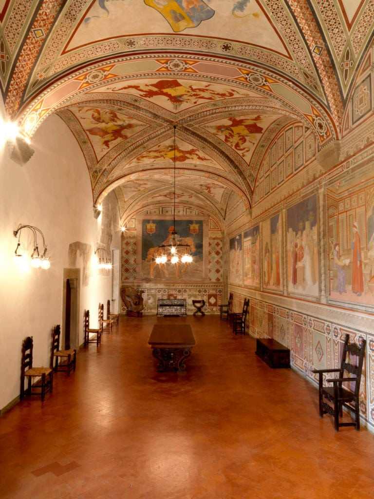 saloon of Fosdinovo Castle