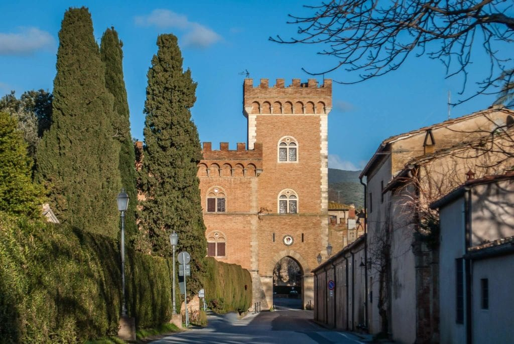 The Castle of Bolgheri Entrance
