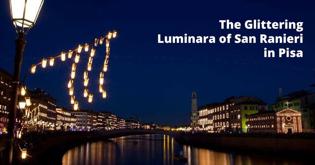 The glittering Luminara of San Ranieri in Pisa
