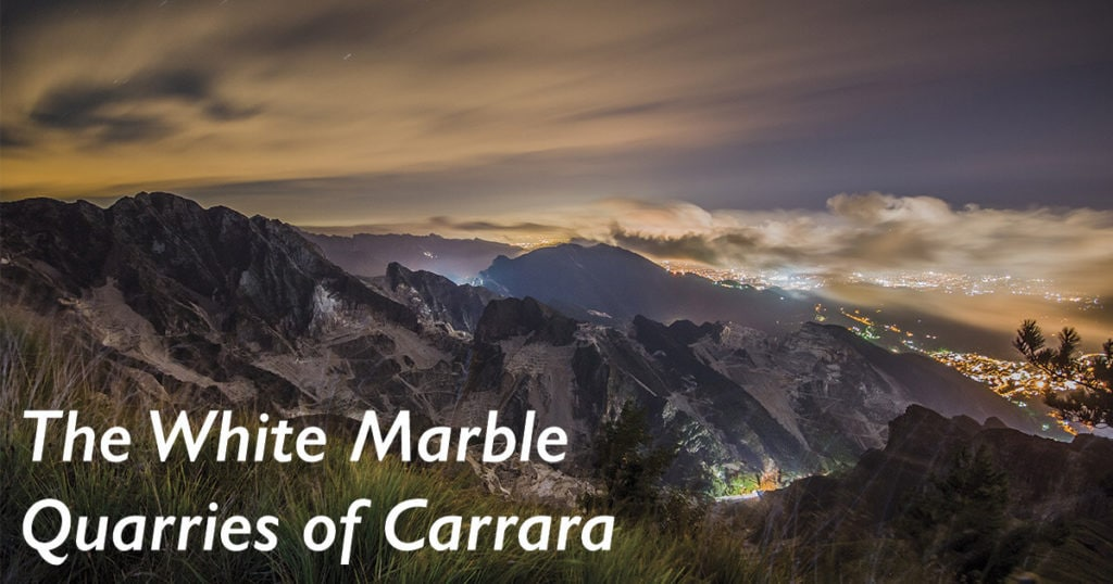 white marble quarries of Carrara