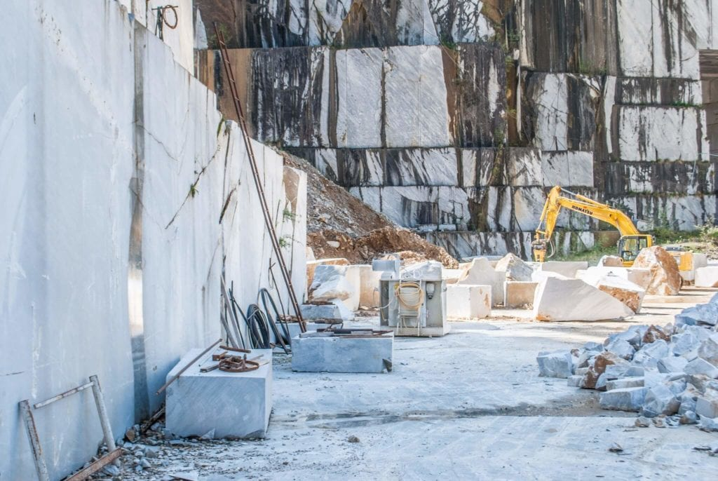 working marble quarries of Carrara