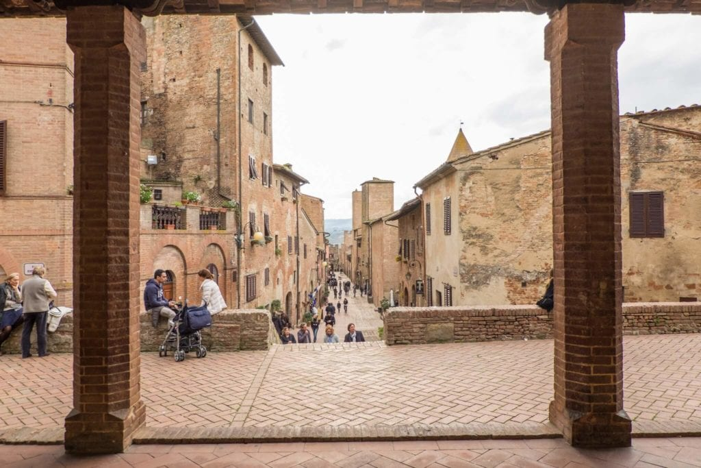 Certaldo Via Boccaccio from the cloister
