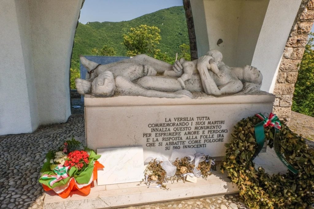 commemorating tomb Sant'anna di stazzema