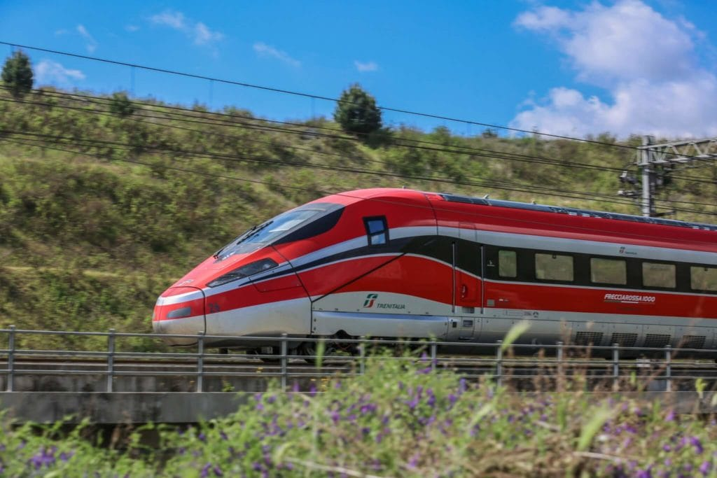 Frecciarossa Locomotive tuscany by train