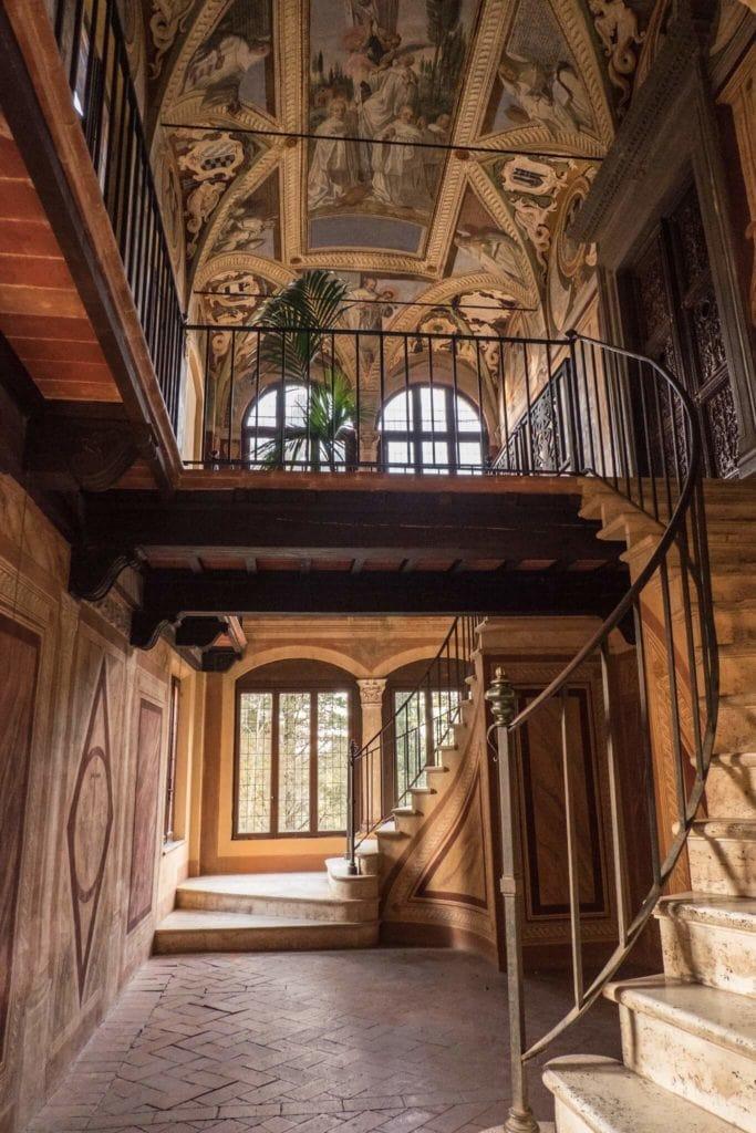 library of Monte Uliveto Maggiore Abbey