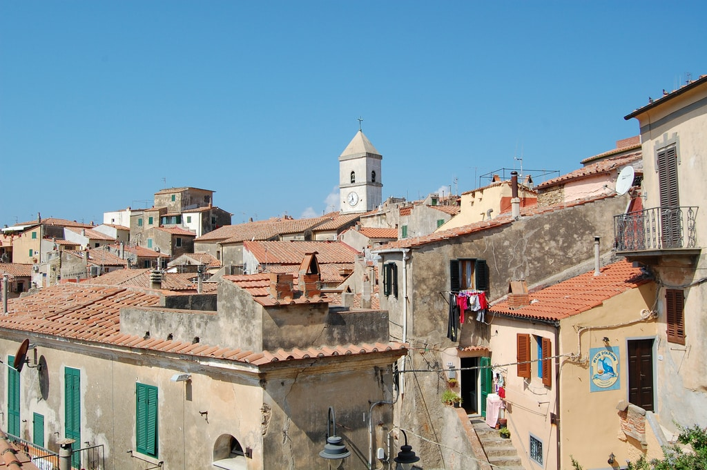 Capoliveri village on the Elba Island