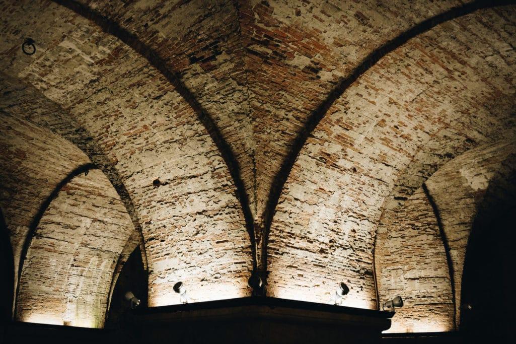 Walls of Lucca underground vault