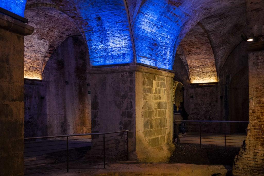 Game of lights under San Martino