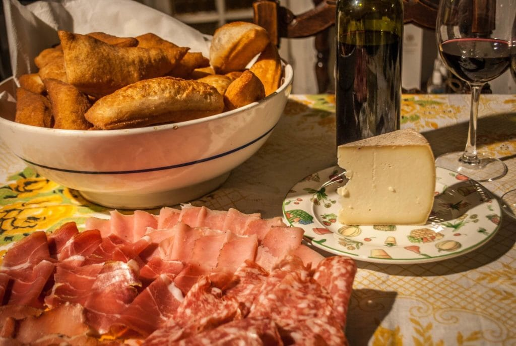 Cold Cuts and Sgabei Tuscany
