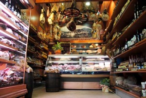 Tuscan cured meats shop