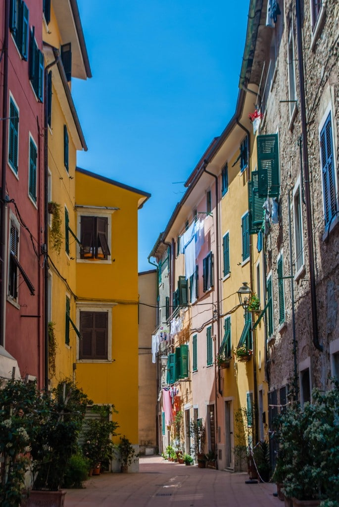 Narrow Street Carrara Tuscany