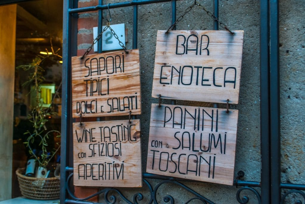 Plaque Bolgheri Tuscany