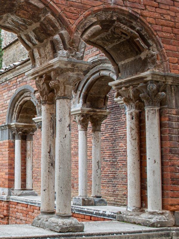 the cloister of the abbey of San Galgano
