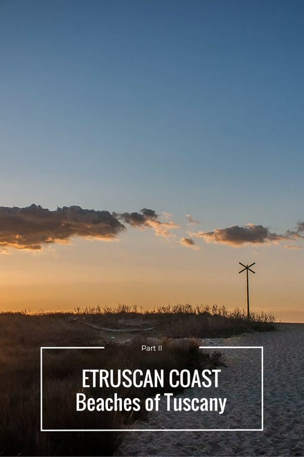 Etruscan Coast beaches of Tuscany part II cover Pinterest