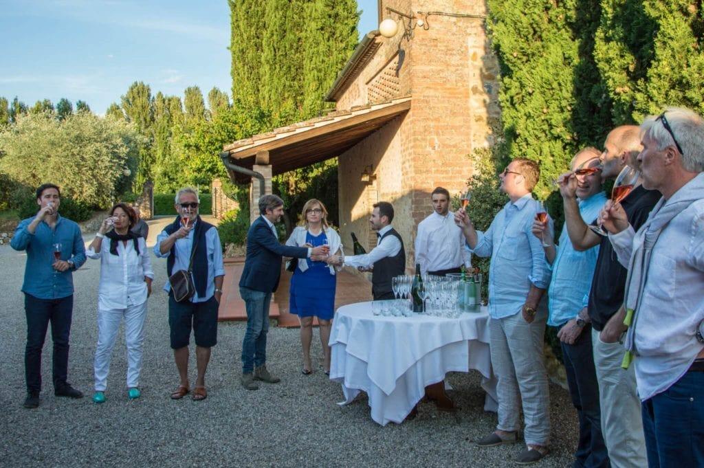 Norwegian group Convito di Curina Chianti Tuscany Giorgio Trovato