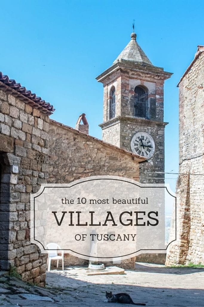 10 most beautiful villages of tuscany cover Pinterest