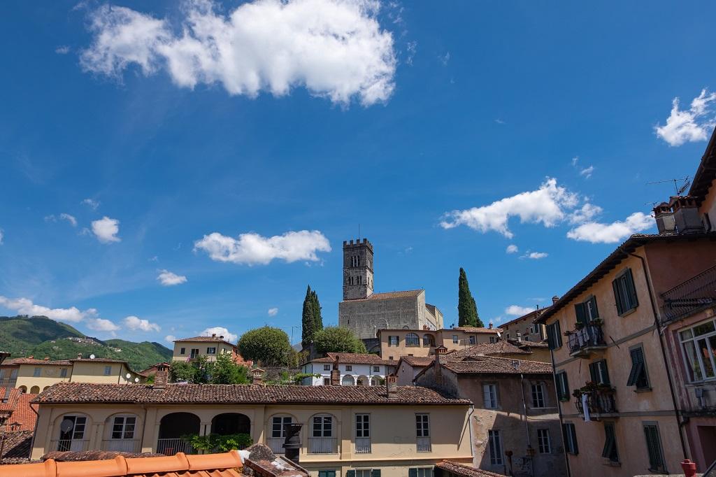 View of the Duomo of Barga in Garfagnana