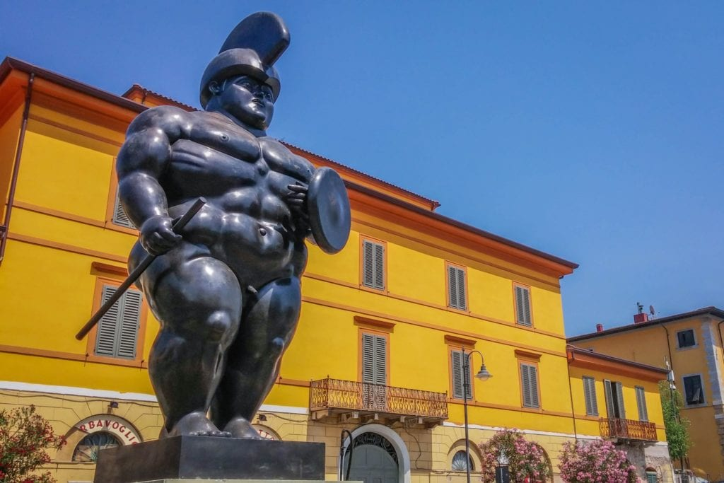 The Warrior sculpture by Botero