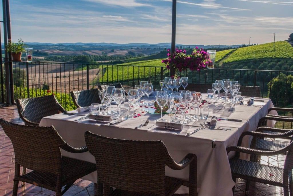 Panoramic Terrace 2 Convito di Curina Chianti Tuscany Giorgio Trovato