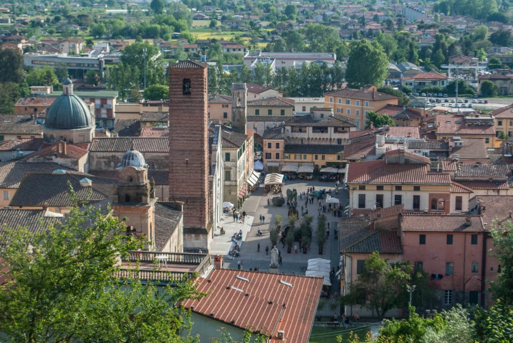 View of Pietrasanta Tuscany