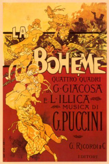 la boheme poster puccini Festival