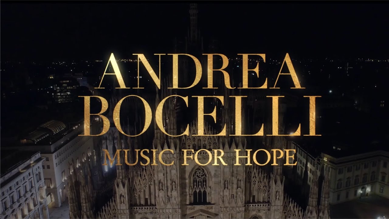 Andrea Bocelli performed Music for Hope in Milan's Cathedral