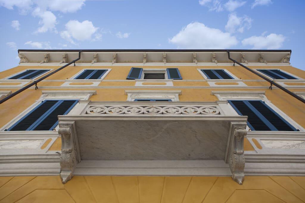 bottom view Palazzo Cucchiari