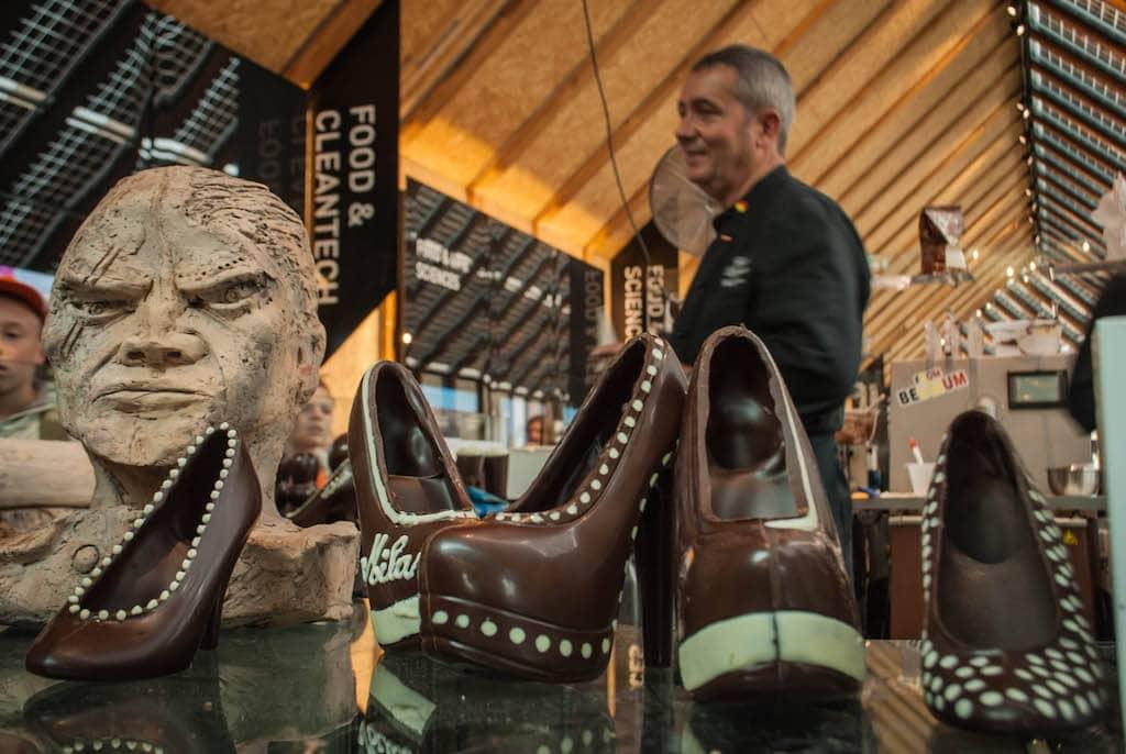 Belgium Chocolate Shoes Expo Milan 2015