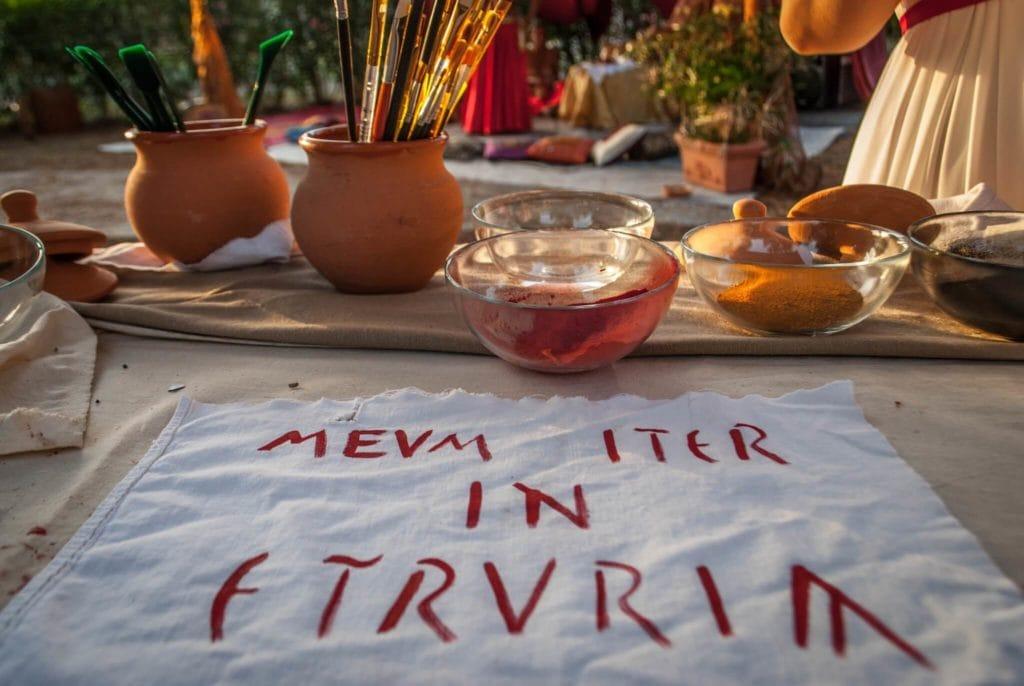 written in old Etruscan Language