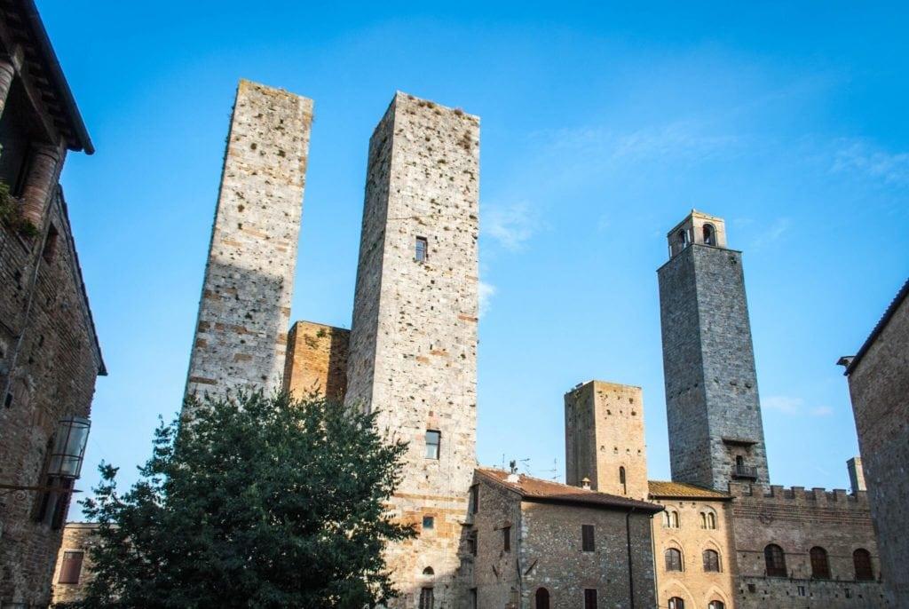 San Gimignano towers Tuscany