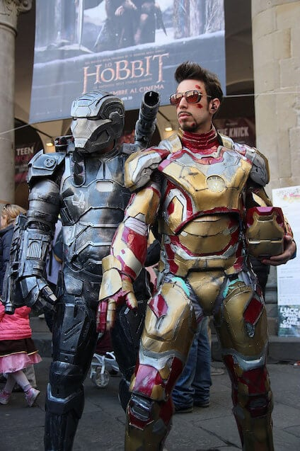 Iron Man Cosplayers Lucca Comics