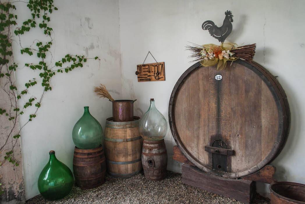old vats Harvest Tuscany