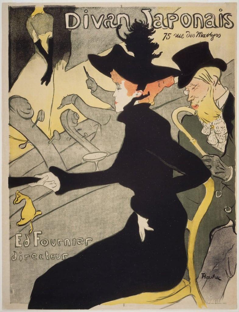 Divan Japonais, litografia a colori, manifesto, 1892-1983, collezione privata
