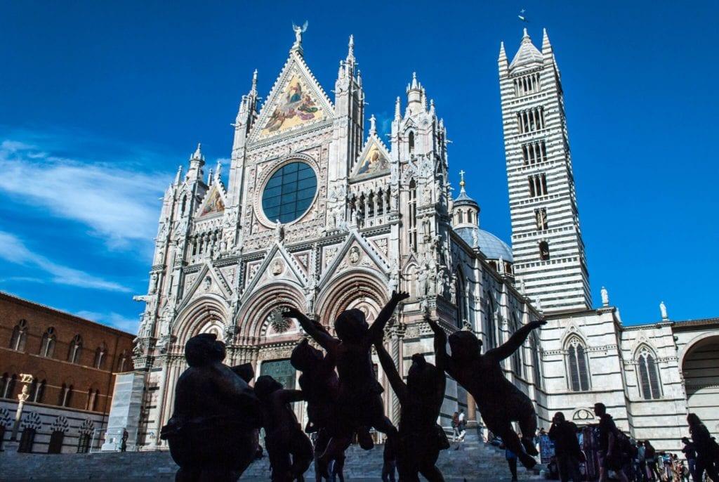 Facade Duomo Siena Tuscany