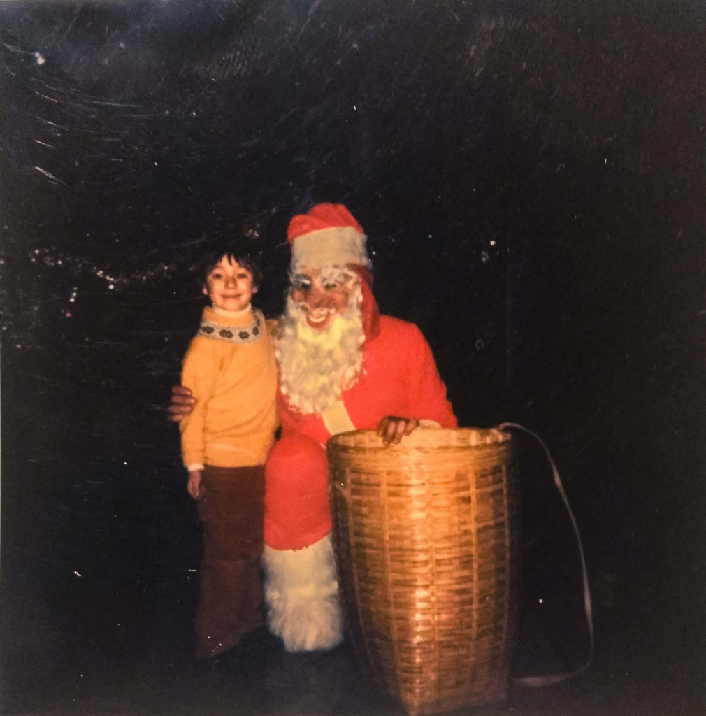 Little Edoardo and Santa Klaus
